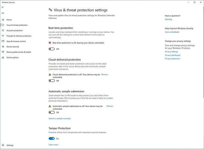 Microsoft Defender deshabilitado por valor DisableAntiSpyware