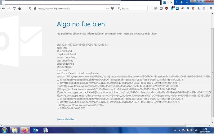error Outlook
