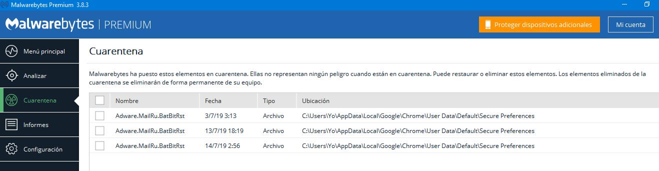 Infectado por Malware Adware MailRu BatBitRst - Eliminar Malwares