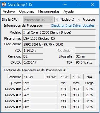 Temperatura PC1