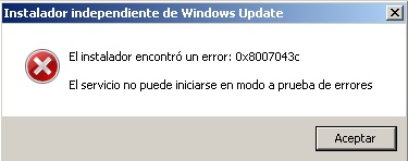 error actualizacion