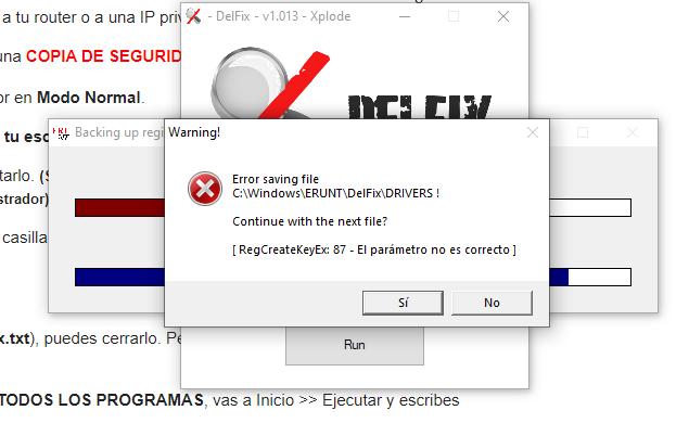 Error delfix