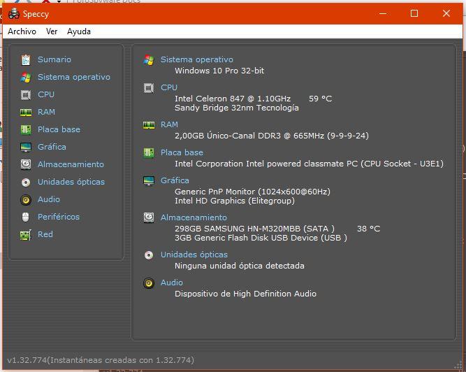 Sumario del Test de Speccy aplicado a Desktop-RIHK8U2 (28-01-2021)